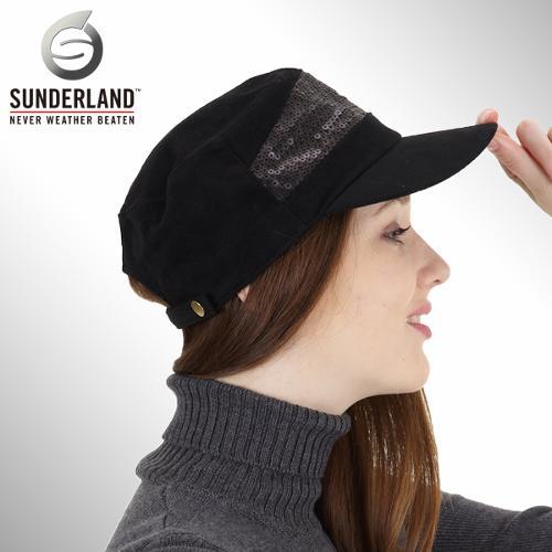 [Sunderland Of Scotland] 선덜랜드 여성 은사자수로고 스팽글 군모스타일 모자 - 16332CP13