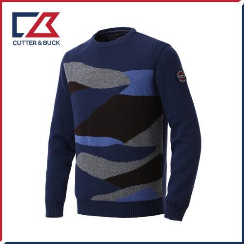 커터앤벅 남성 라운드 니트 스웨터- PB-11-184-102-06