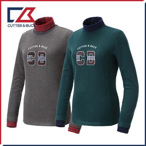 커터앤벅 여성 스판 목폴라티셔츠 - PB-11-184-201-04