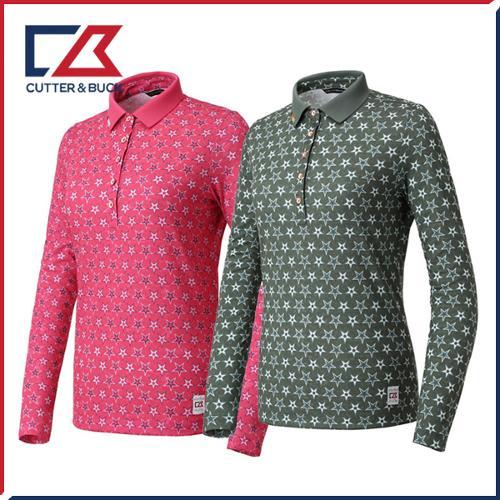 커터앤벅 여성 스판 별 긴팔티셔츠- PB-11-183-201-16
