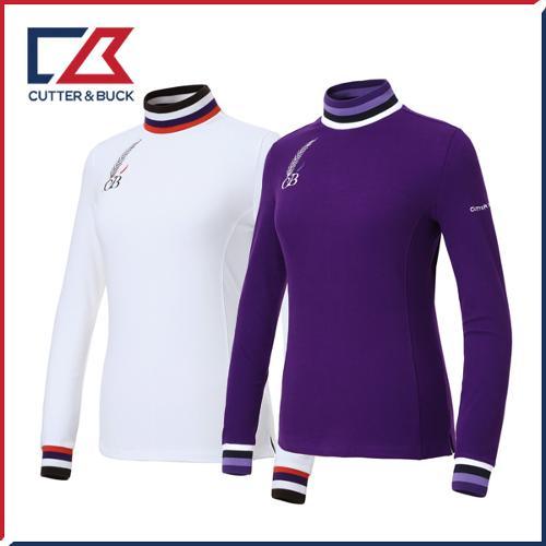 커터앤벅 여성 스판 목폴라티셔츠 - PB-11-183-201-04