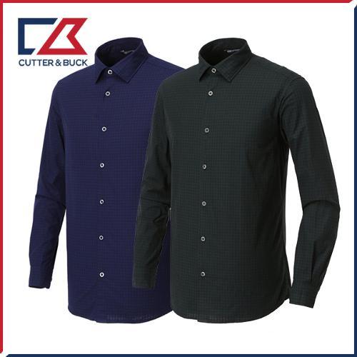 커터앤벅 남성 면소재 체크 셔츠 - PB-12-183-108-50