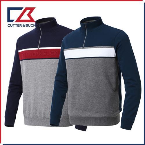 커터앤벅 남성 방풍 니트 스웨터 - PB-11-183-102-02