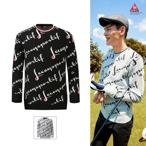 [19FW 신상]남성 레터링 전판패턴 홑겹 스웨터 (G9321MKP91)