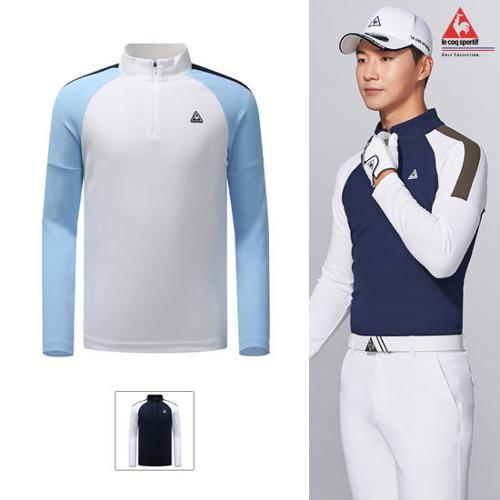 [19FW 신상]남성 라글란 배색 포인트 반집 티셔츠 (G9321MTL92)