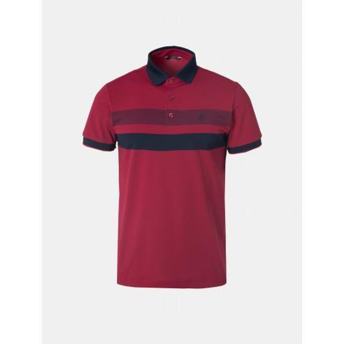 [빈폴골프] 남성 레드 라인 배색 칼라 티셔츠 (BJ9442B27X)