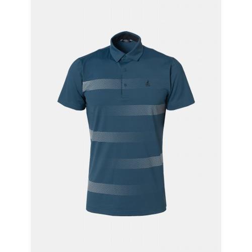 [빈폴골프] 남성 블루 도트 블록 칼라 티셔츠 (BJ9542B64P)