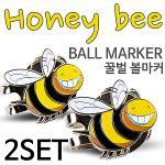 [9900원 균일가전] 카시야 꿀벌 디자인 골프 볼마커 2개