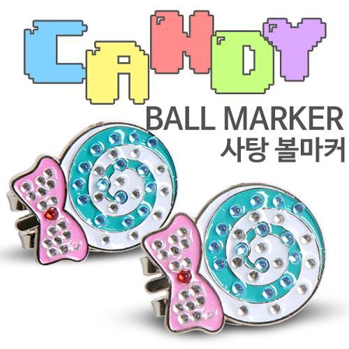 [9900원 균일가전] 카시야 큐빅 사탕 디자인 골프 볼마커