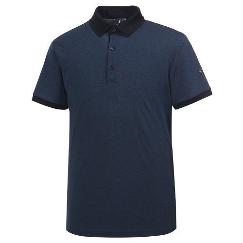 [와이드앵글] 남성 클럽스칸딕 투톤 피케 티셔츠 WMU19232N2