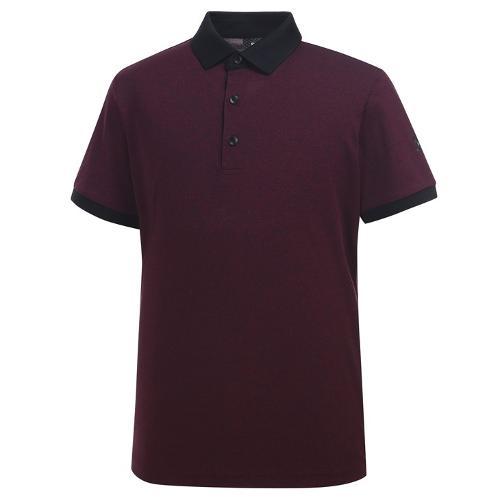 [와이드앵글] 남성 클럽스칸딕 투톤 피케 티셔츠 WMU19232R8