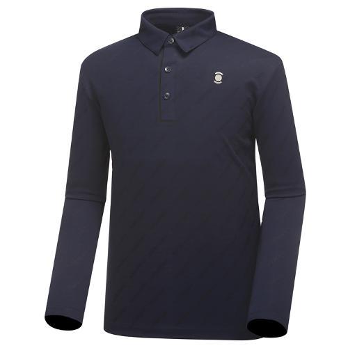 [와이드앵글] 남성 웰딩 디테일 자카드 긴팔 티셔츠 WMU18233N4