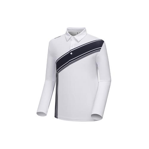 [와이드앵글] 남성 변형 배색 프린트 티셔츠 WMU18205W2