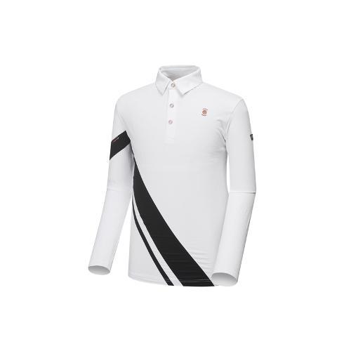 [와이드앵글] 남성 W.리미티드 카라 배색 티셔츠 WMU18207W2