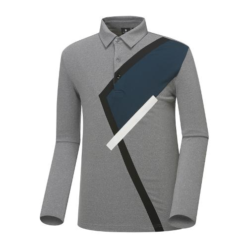 [와이드앵글] 남성 변형 면분할 티셔츠 WMU18240C5