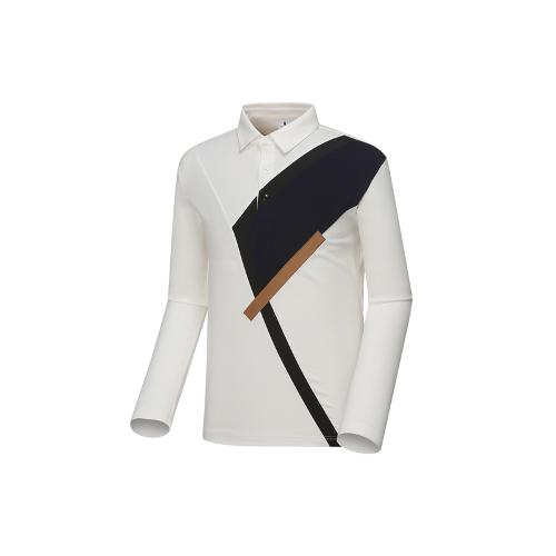 [와이드앵글] 남성 변형 면분할 티셔츠 WMU18240W3