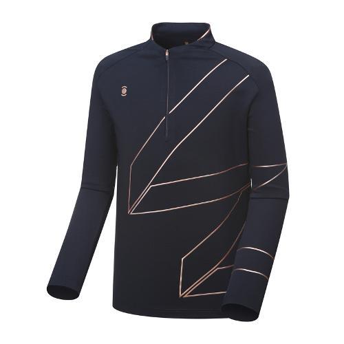 [와이드앵글] 남성 W.리미티드 반짚 긴팔 티셔츠 WMU18208N4