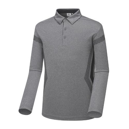 [와이드앵글] 남성 배색 포인트 긴팔 티셔츠 WMU18211C4