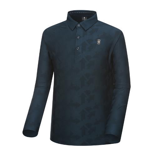 [와이드앵글] 남성 자카드 패턴 긴팔 티셔츠 WMU18239B4