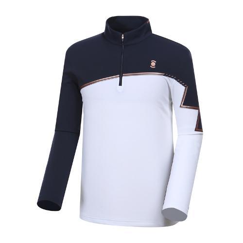 [와이드앵글] 남성 W.리미티드 반짚 배색 긴팔 티셔츠 WMU18209N4