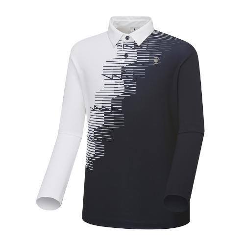 [와이드앵글] 남성 잔조직감 프린트 긴팔 티셔츠 WMU18234N4