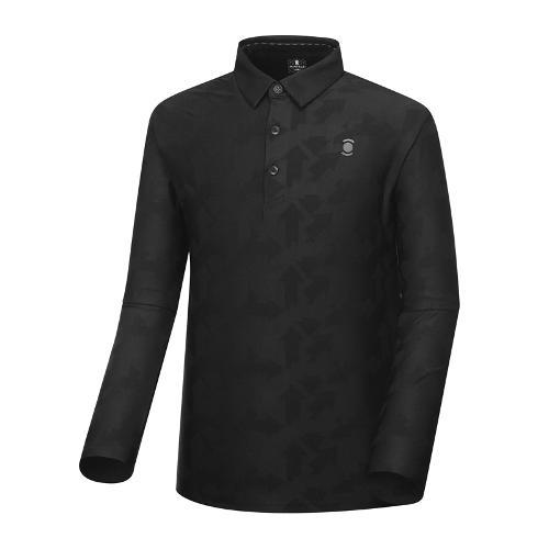 [와이드앵글] 남성 자카드 패턴 긴팔 티셔츠 WMU18239Z1