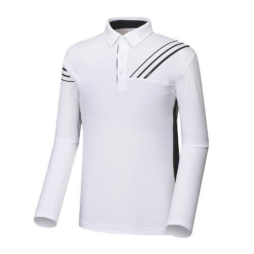 와이드앵글 남성 W웰딩 포인트 긴팔 티셔츠 WMU18210W2