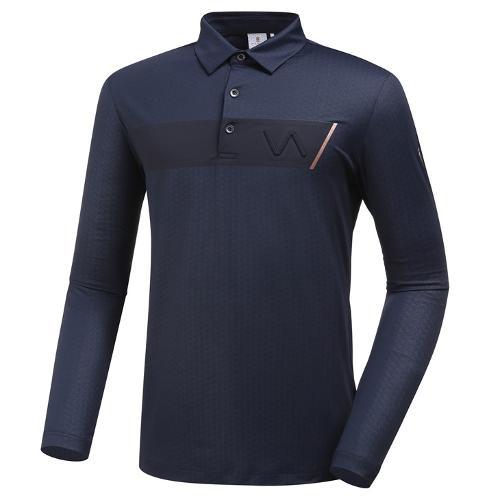 [와이드앵글] 남성 배색 포인트 긴팔 티셔츠 1 WMU19204N4