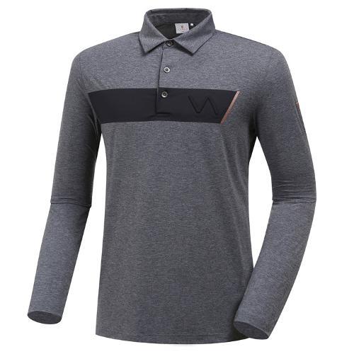 [와이드앵글] 남성 배색 포인트 긴팔 티셔츠 2 WMU19205C4