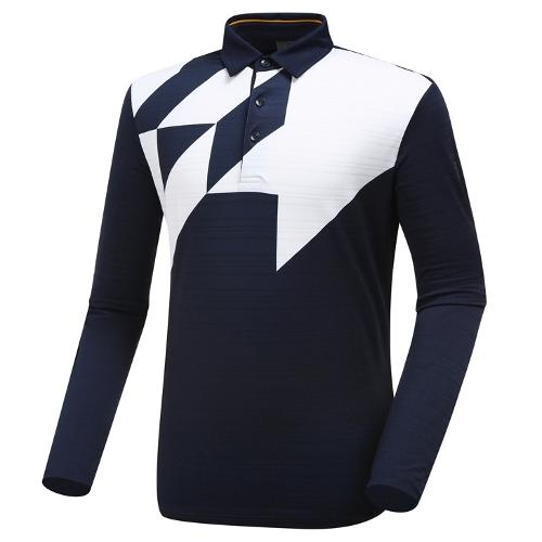 [와이드앵글] 남성 보더형 빅 패턴 티셔츠 WMU19233N4
