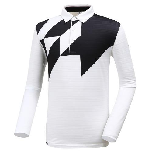 [와이드앵글] 남성 보더형 빅 패턴 티셔츠 WMU19233W2