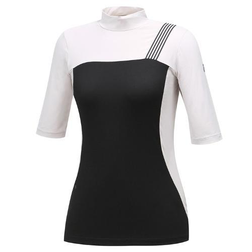 [와이드앵글] 여성 변형 블록 간절 티셔츠 WWU19202E2