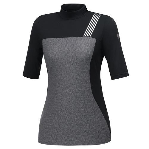 [와이드앵글] 여성 변형 블록 간절 티셔츠 WWU19202Z1