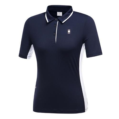 [와이드앵글] 여성 간절 심플 카라 티셔츠 WWU19201N4