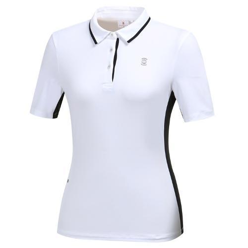 [와이드앵글] 여성 간절 심플 카라 티셔츠 WWU19201W3