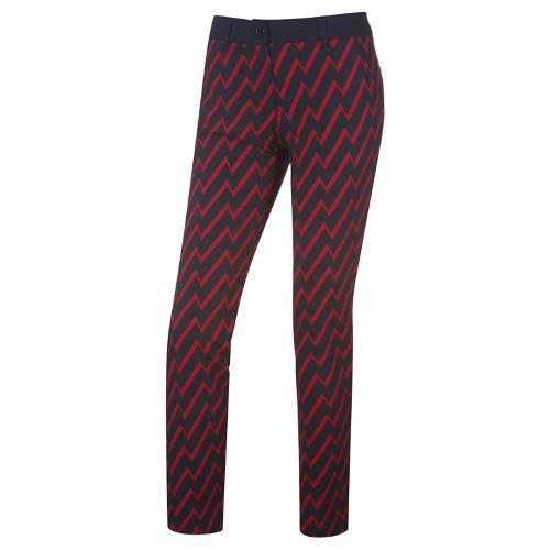 [와이드앵글] 여성 지그재그 프린트 패턴 팬츠 WWU18333N4