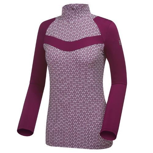 [와이드앵글] 여성 변형 포레스트패턴 하이넥 긴팔 티셔츠 WWU18208V8