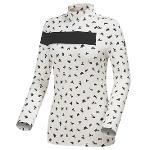 [와이드앵글] 여성 SCANDIC 브로큰 패턴 하이넥 긴팔 티셔츠 WWU18233W3