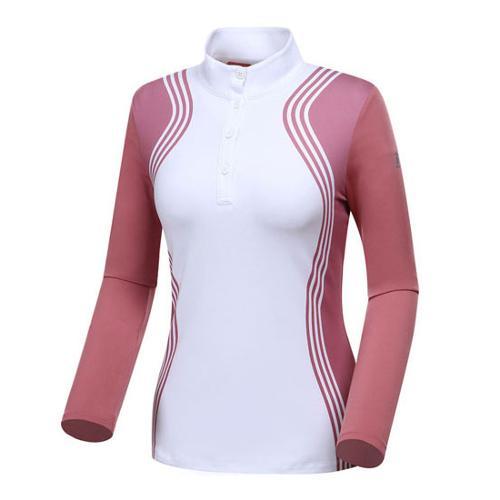 [와이드앵글] 여성 스트릿패턴 하이넥 티셔츠 WWU18213P5