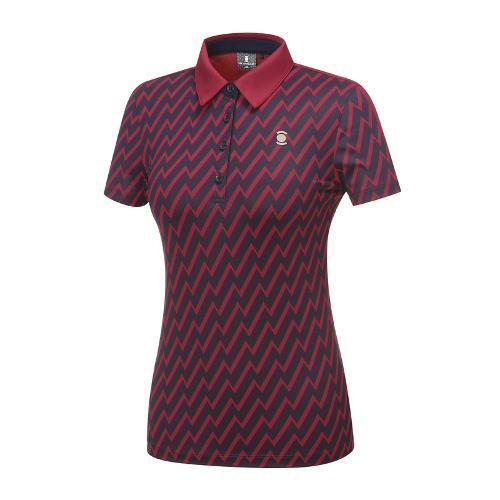 [와이드앵글] 여성 SCANDIC 패턴 프린트 반팔티셔츠 WWU18232R8