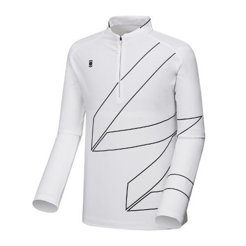 [와이드앵글] 남성 W.리미티드 반짚 긴팔 티셔츠 WMU18208W2