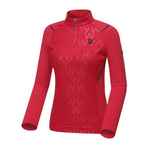 [와이드앵글] 여성 W.리미티드 짚업 긴팔 티셔츠 WWU18211R2