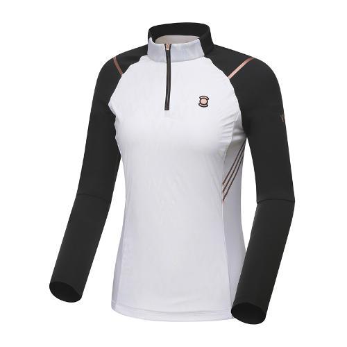 [와이드앵글] 여성 W.리미티드 짚업 긴팔 티셔츠 WWU18211W2