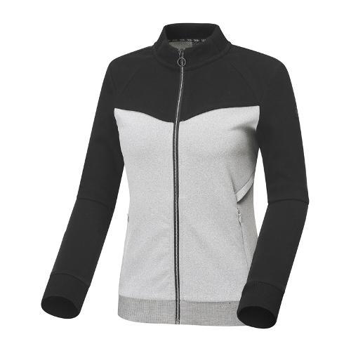 와이드앵글 여성 블럭형 풀오픈 긴팔 티셔츠 WWU18240C5