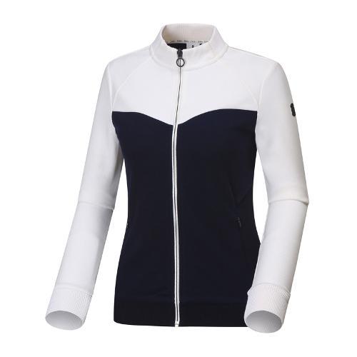 와이드앵글 여성 블럭형 풀오픈 긴팔 티셔츠 WWU18240N4
