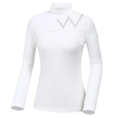 [와이드앵글] 여성 W포인트 반넥 티셔츠 WWU19203W3