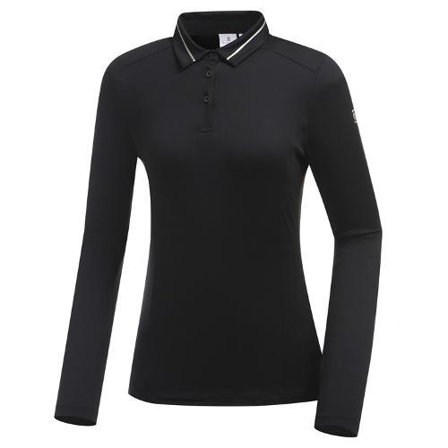 [와이드앵글] 여성 조직 솔리드 카라 티셔츠 WWU19205Z1