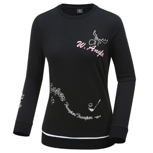[와이드앵글] 여성 포인트자수 풀오버 티셔츠 WWU19232Z1