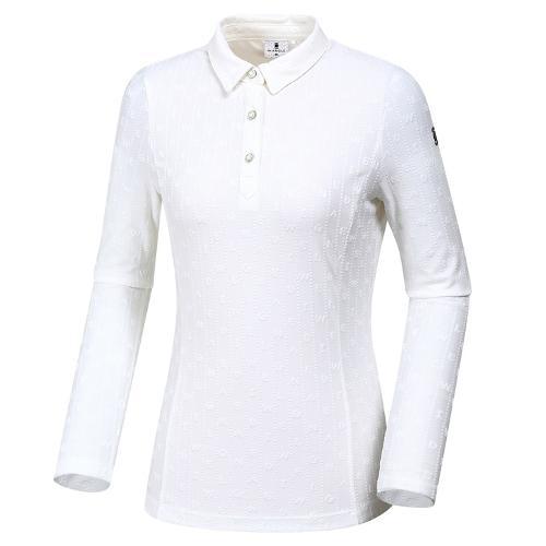 [와이드앵글] 여성 로고자카드 카라 티셔츠 WWU19233W3