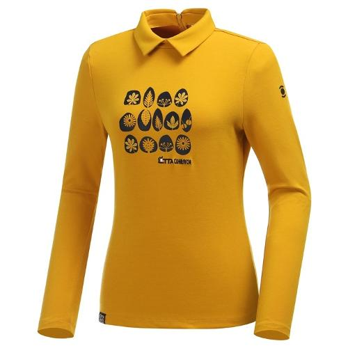 [와이드앵글] 여성 로타 콜라보 원포인트패턴 카라 티셔츠 WWU19235Y7